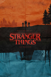 480x854 Stranger Things Fanmade Poster 5k