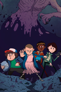 1242x2688 Stranger Things Illustration