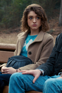 1080x1920 Stranger Things Natalia Dyer As Nancy Jonathan Byers As Charlie