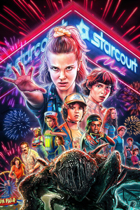 640x1136 Stranger Things Season 3 2019 4k 5k