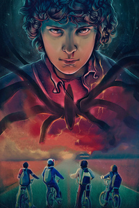 640x1136 Stranger Things Season 3 2019 Eleven Art