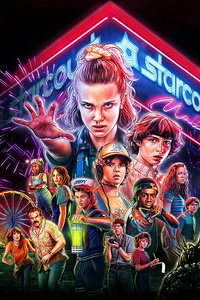 1125x2436 Stranger Things Season 3 5k
