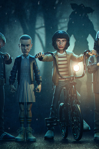 480x800 Stranger Things Season 4 Art