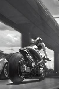 640x1136 Street Car Monochrome