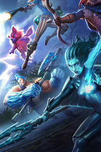480x800 Strife Hero Clash Art 4k