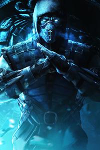 320x480 Sub Zero Mortal Kombat 4k 2020