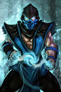 Sub Zero Mortal Kombat Artwork 4k