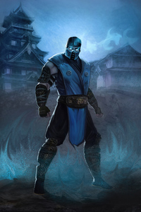 Sub Zero Mortal Kombat Fan Art With Power Effect 4k