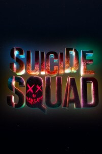 1125x2436 Suicide Squad Logo