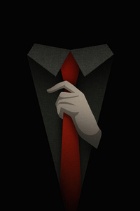 320x568 Suit Guy Minimal 5k