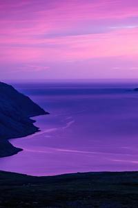 320x480 Summer Nights In Northern Norway 4k