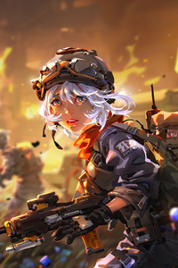 720x1280 Summer Soda Anime Girl In War 5k