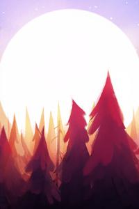 720x1280 Sun Rising From Trees Morning