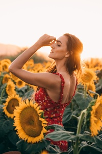 Sunflowers Field Dress Women 4k