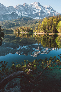 1242x2688 Sunrise At Eibsee 4k