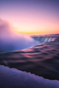 1080x2280 Sunrise At Niagra Falls 5k