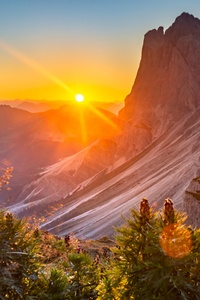 320x568 Sunrise At The Dolomites Italy