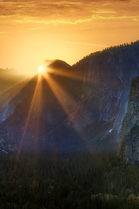 1080x2160 Sunrise At Tunnel View Yosemite National Park 5k