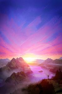 1080x2280 Sunrise Brings New Hope 5k