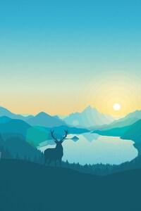 Sunrise Lake Art Work