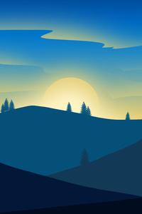 Sunrise Landscape Minimalism 5k