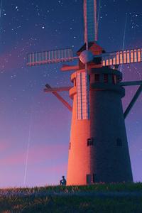 800x1280 Sunrise Meteorite Windmill 4k