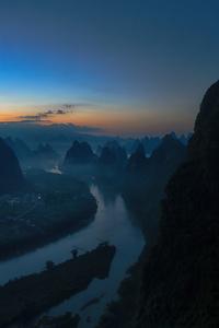 1080x1920 Sunrise On The Li River 8k