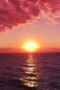 2160x3840 Sunrises Red Sky Pink Sky