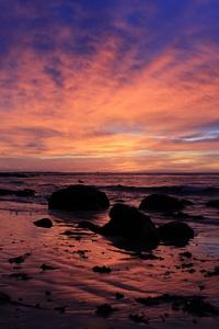 Sunrsie Beach Ocean Sky 4k