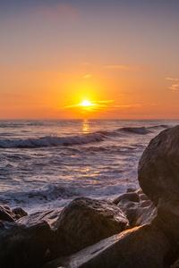 Sunset At Buccaneer Beach 4k