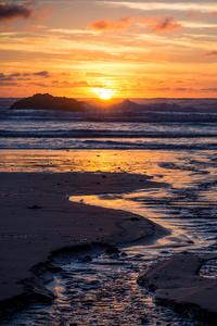 Sunset At Hug Point 4k