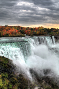 480x854 Sunset At Niagara Falls 5k