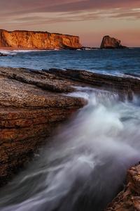 1080x2280 Sunset At Panther Beach