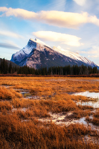 640x1136 Sunset At Vermillion Lakes In Banff Canada