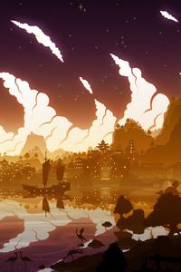 Sunset Beyond Liyue Genshin Impact 5k
