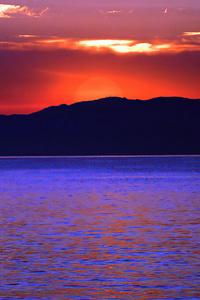 1080x2280 Sunset Burning Time 4k