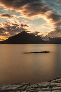 Sunset Clouds Lake