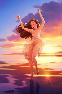 1242x2688 Sunset Dance 4k