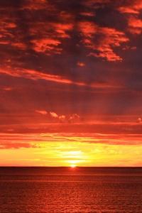 Sunset Dawn Dusk Sea Mood