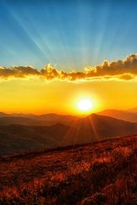 Sunset Dawn Landscape 5k