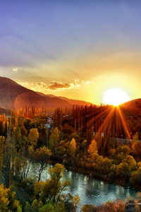 Sunset Dawn Nature Mountain Landscape Kackars 5k