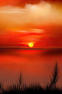 320x480 Sunset Digital Art 4k