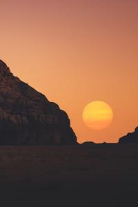 1242x2688 Sunset Dry Day 5k