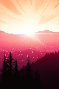 320x480 Sunset Force Vista 5k