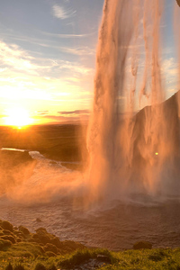 360x640 Sunset From Waterfall Behind