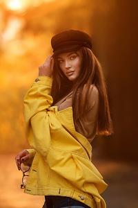 1080x1920 Sunset Glare Girl 4k
