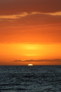 540x960 Sunset Hawaii Orange Tropical Ocean Sea Water 5k