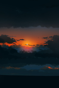 1440x2960 Sunset Illustration 4k
