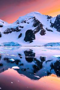 Sunset In Antarctica 4k