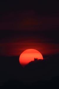 Sunset In Dark Clouds 4k